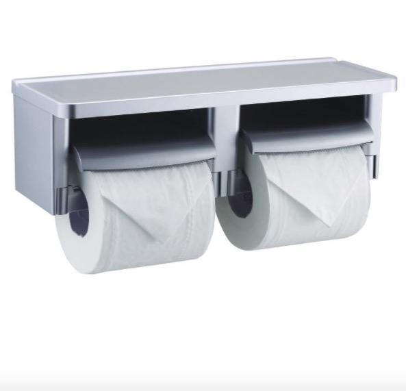 银漆双联纸巾盒