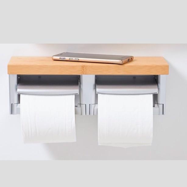 楠竹置物架双联纸巾盒-积分商品