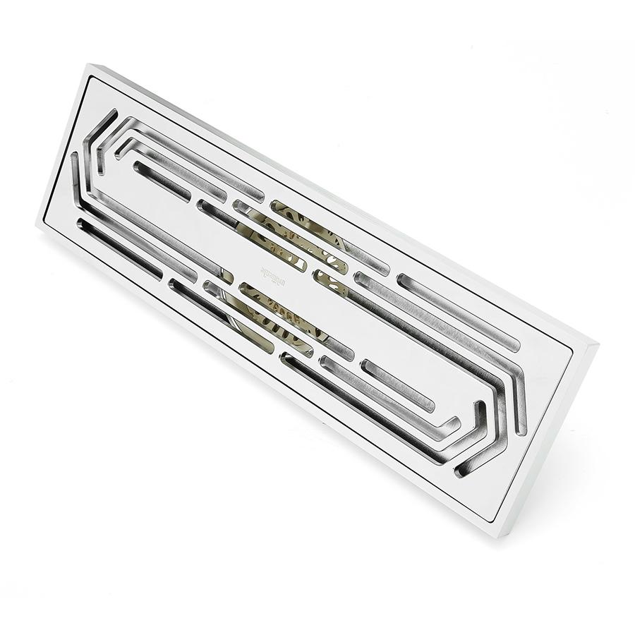 全铜地漏——长条形(30cm)-适用湿区+带存水弯+无移位