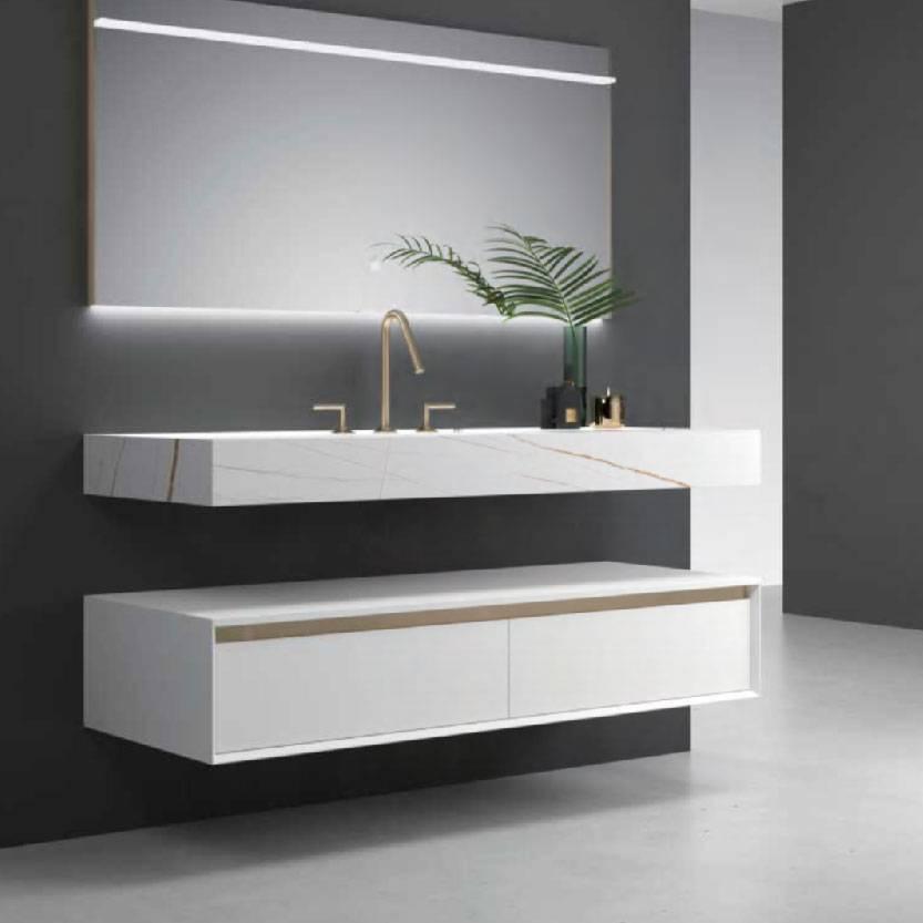 浴室柜Elijah伊利亚 PY31415(定制交期图纸签字确认后60天) 购买浴室柜不含龙头与下水