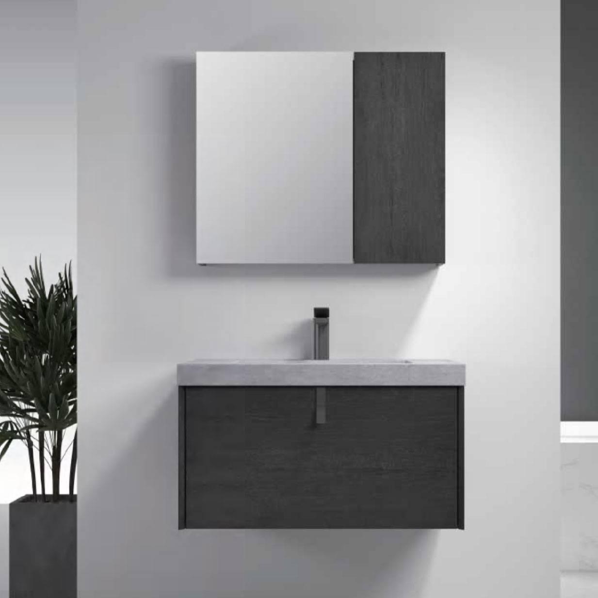 浴室柜Chuck查克 PY27808(定制交期图纸签字确认后60天) 购买浴室柜不含龙头与下水