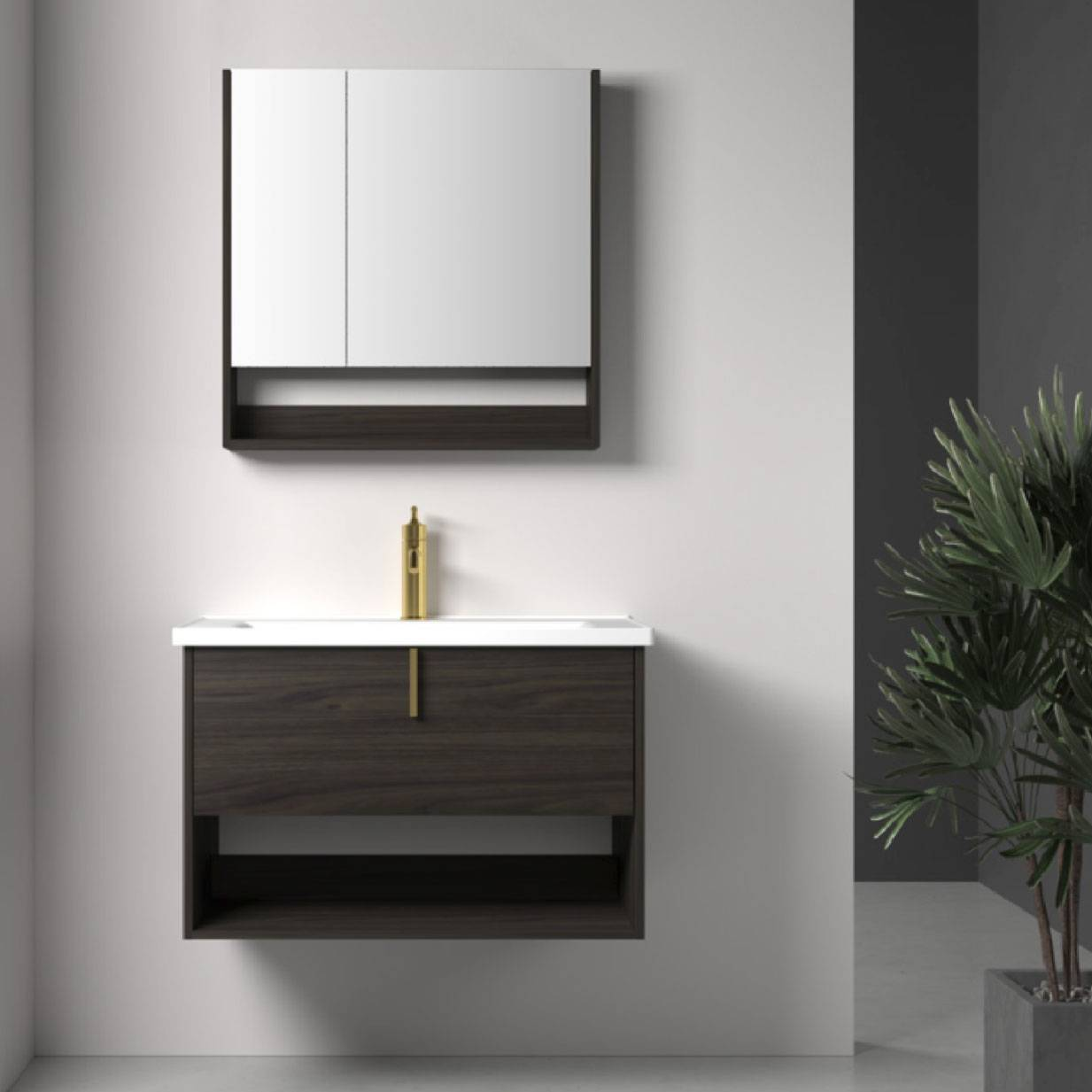 浴室柜Egbert爱格伯特 PY296系列(购买浴室柜不含龙头和下水)