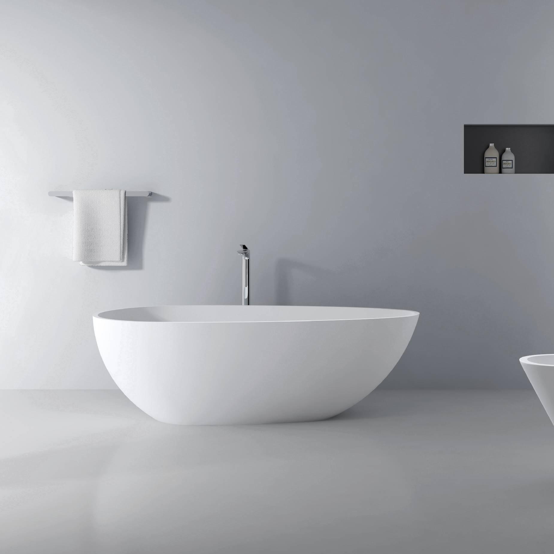 独立式人造石浴缸-白蛋