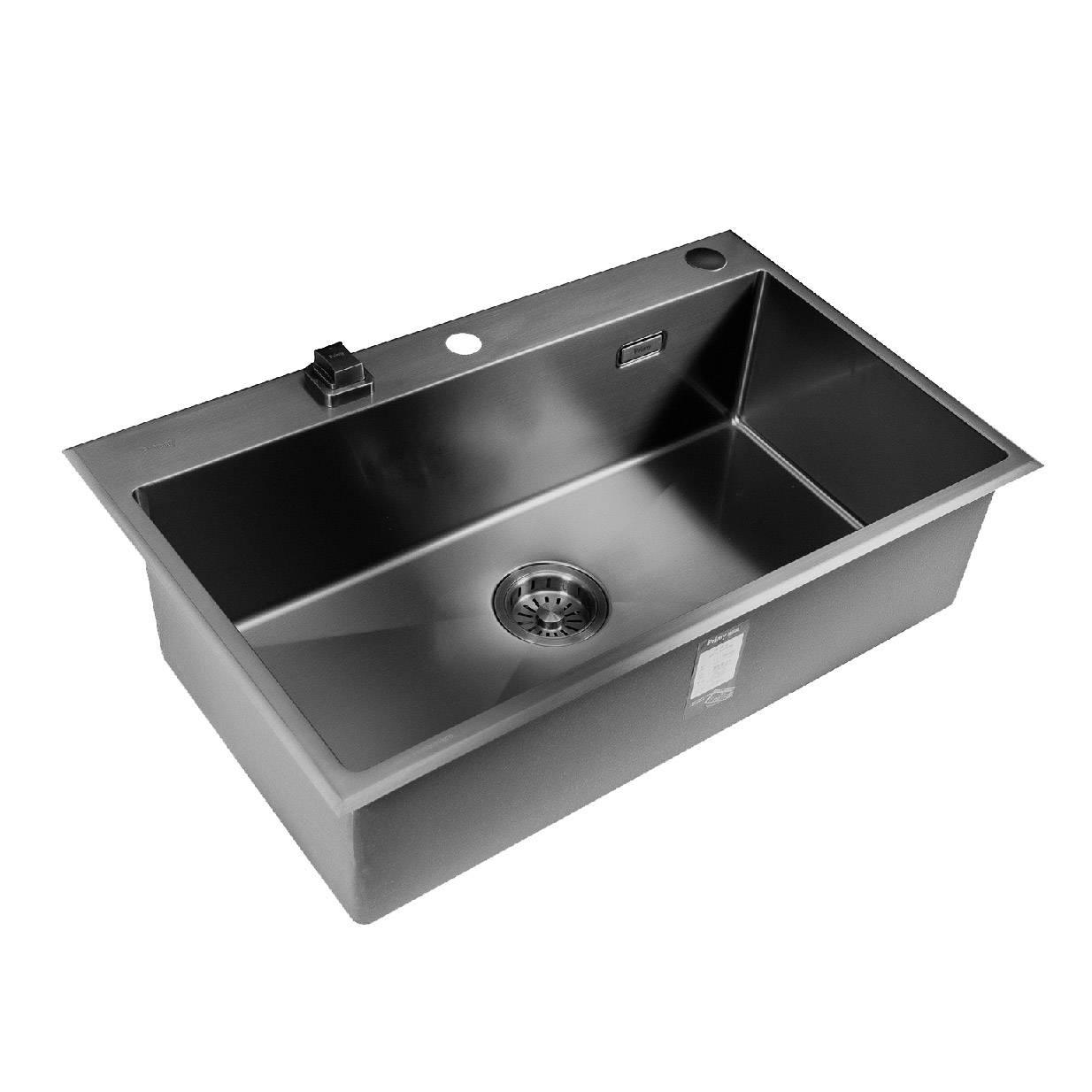 普乐美黑色PVD纳米不锈钢水槽-黑金刚