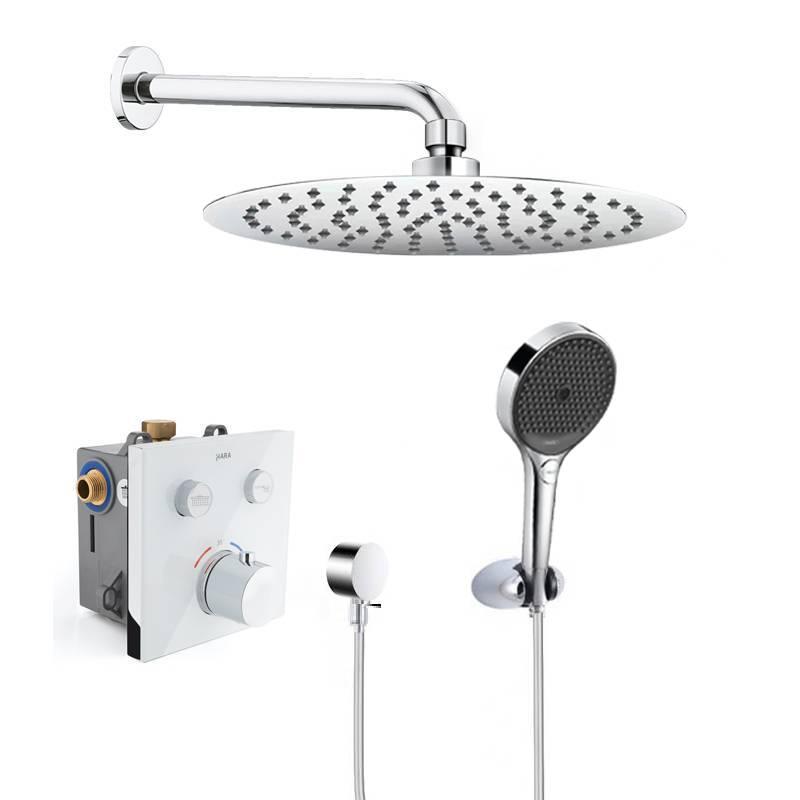 水鹿入墙暗藏淋浴系统黑钻+白钻
