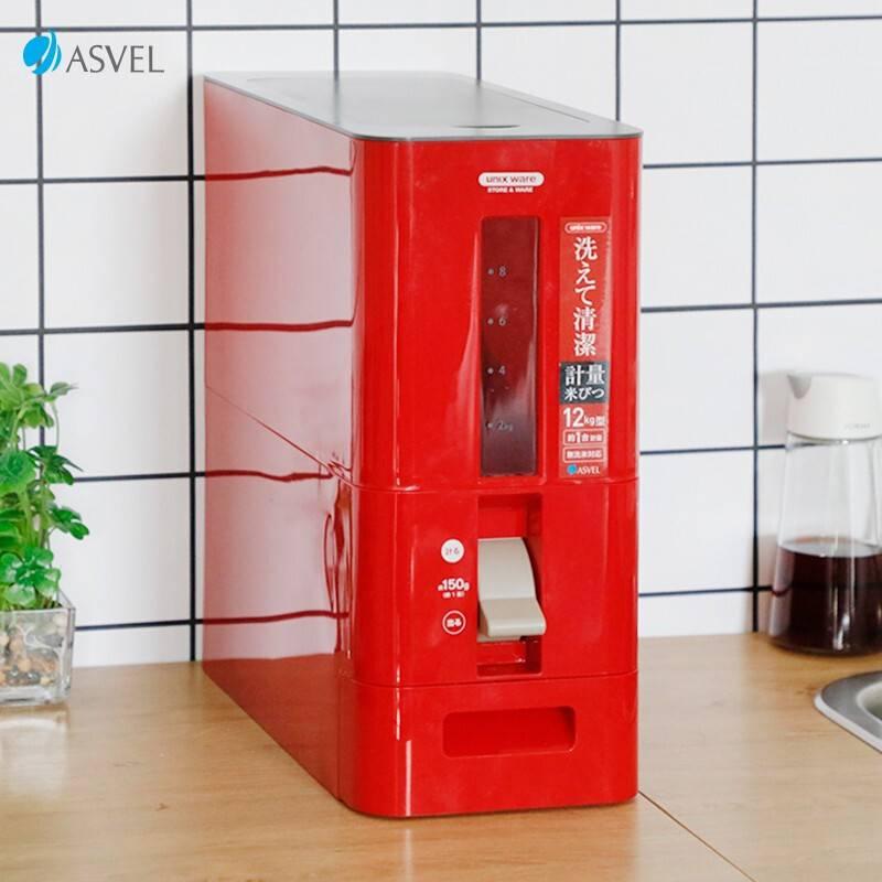 阿司倍鹭(ASVEL)家用厨房优选定量密封米箱/密封杂粮罐带计量杯/自动开合装油瓶