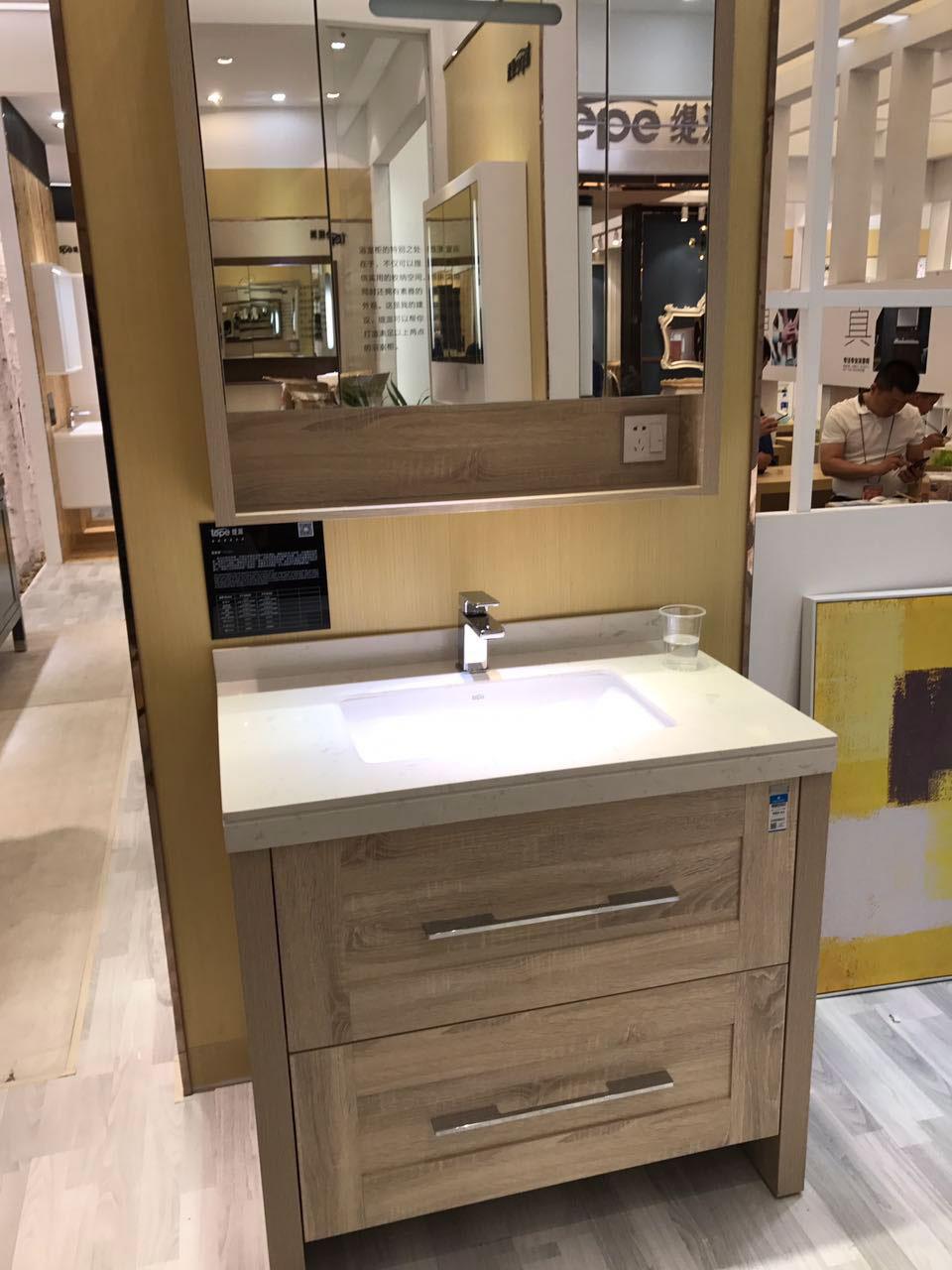 水鹿卫浴-洗面-浴室柜-水鹿精选浴室柜PY1809A(不含龙头和下水,备注好交期)
