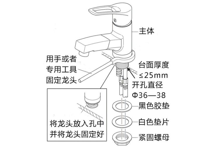 水鹿卫浴-洗面-面盆龙头-KVK单孔抽拉洗头洗发面盆龙头8001tf日本原装进口