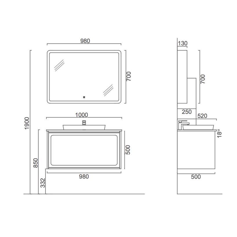 水鹿卫浴-洗面-浴室柜-水鹿精选浴室柜3410-1(不含龙头和下水备注好交期)