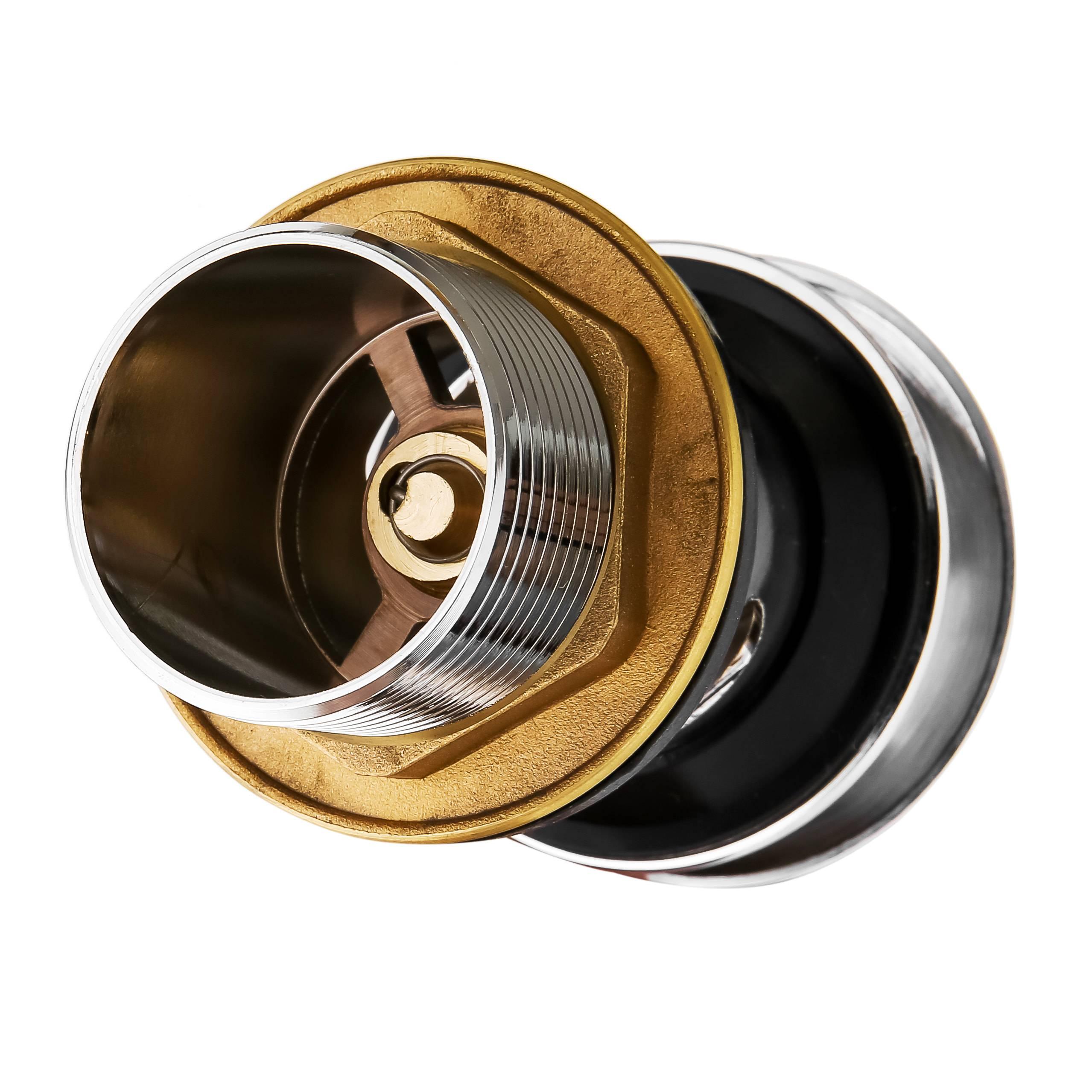 水鹿卫浴-配件-下水排水-浴室柜用全铜直下水器(带溢水口)-需搭配下水管使用