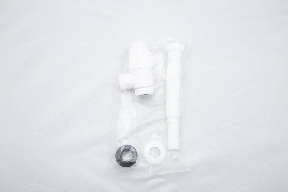 水鹿卫浴-配件-下水排水-浴室柜用塑料下水管(自带存水湾-可墙排水可地排水)-需搭配下水器使用