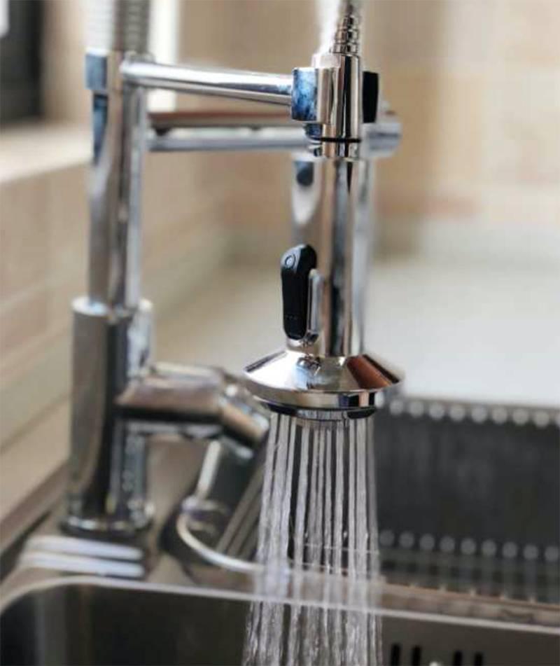 水鹿卫浴-厨房-厨房龙头-文子家同款高抛双出水厨房龙头(小双)